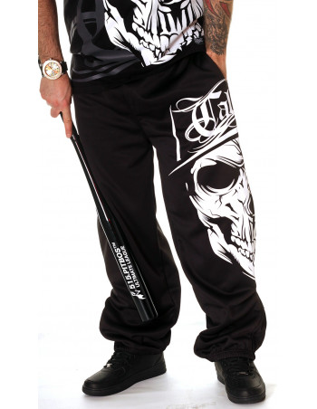 Cali Skull Sweatpants Black