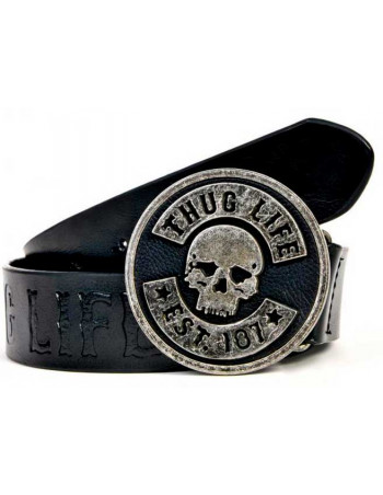 Thug Life Leather Belt Scull