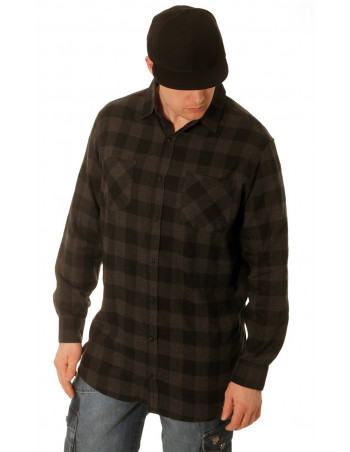 Urban Checked Flannell Shirt Black/Charco