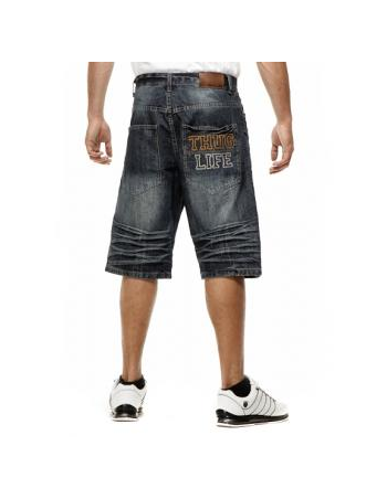 Thug Life Old EnglishDEnim Shorts DarkBlue