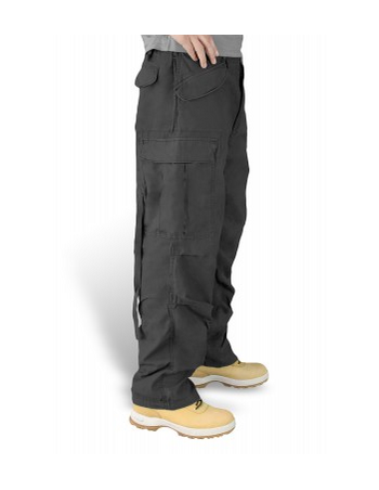 Surplus Vintage Fatigue Cargo Pants Black