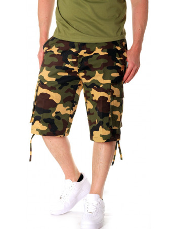 Camo Cargo Shorts Green