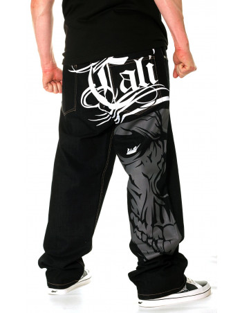 Cali Skull Grey Baggy by BSAT