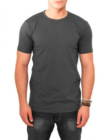 Fitted Stretch Tee Charcoal