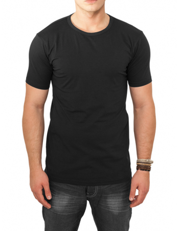 Fitted Stretch Tee Black