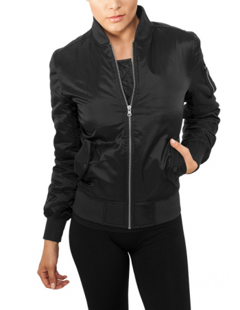 Ladies Basic Bomber Jacket Black