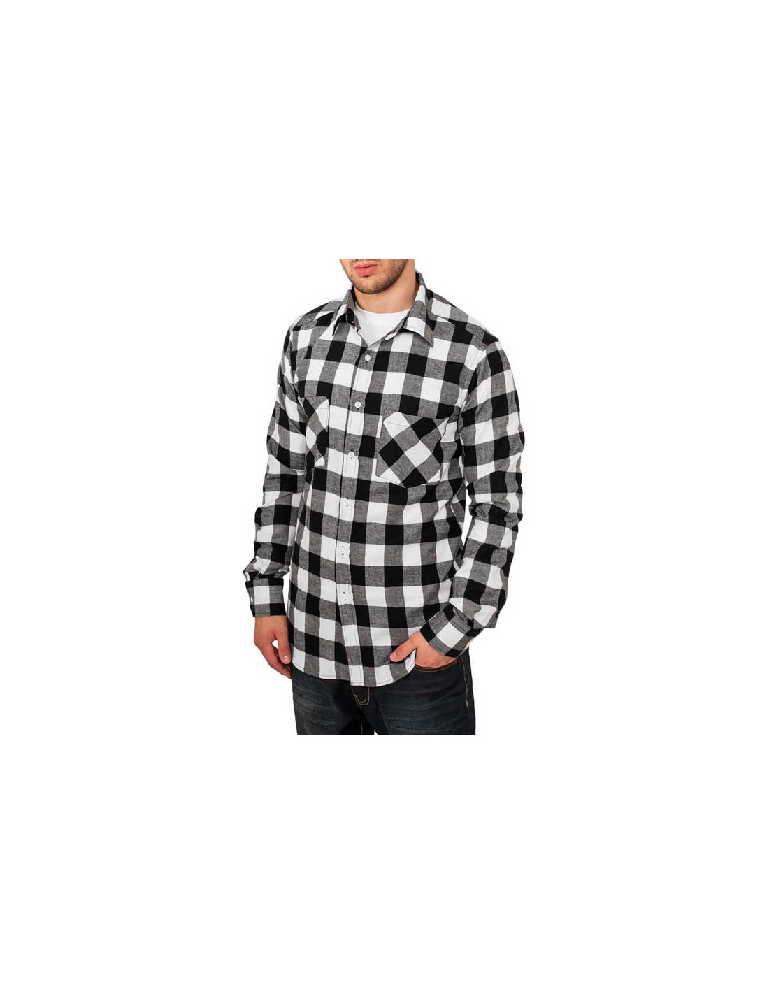 Checked Flanell Shirt Black/White