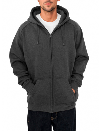 Urban Zip Sweat Hoodie Charcoal