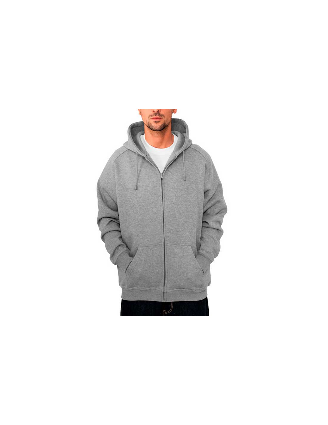 Urban Zip Sweat Hoodie Grey