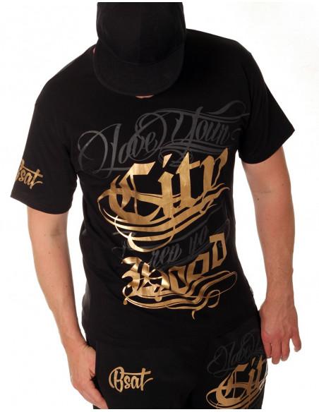 BSAT Hood Tee Black Gold