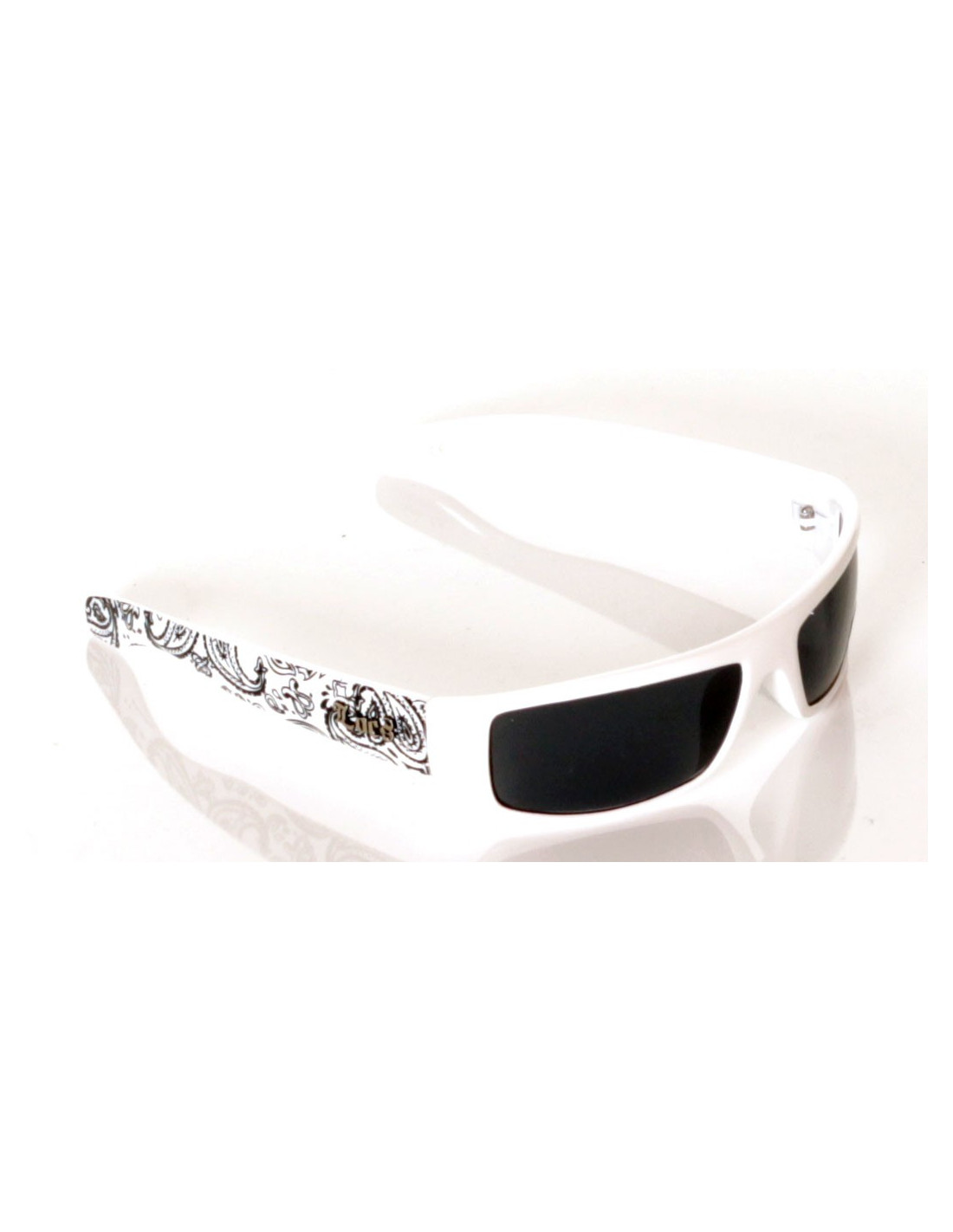 Locs Sunglasses White paisley black