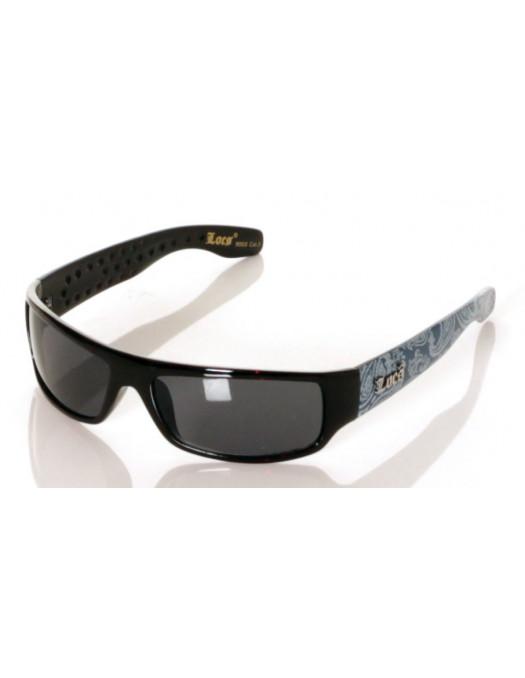 Locs Sunglasses Black blue paisley