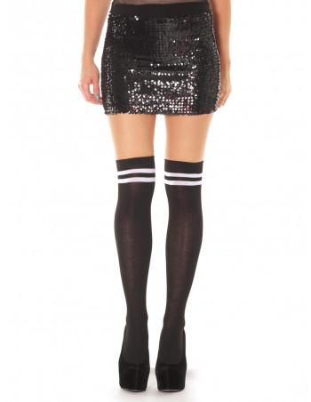 LadiesCollege Socks BlackNWhite