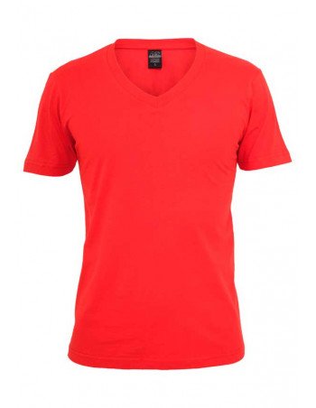 Basic V-Neck Tee Red