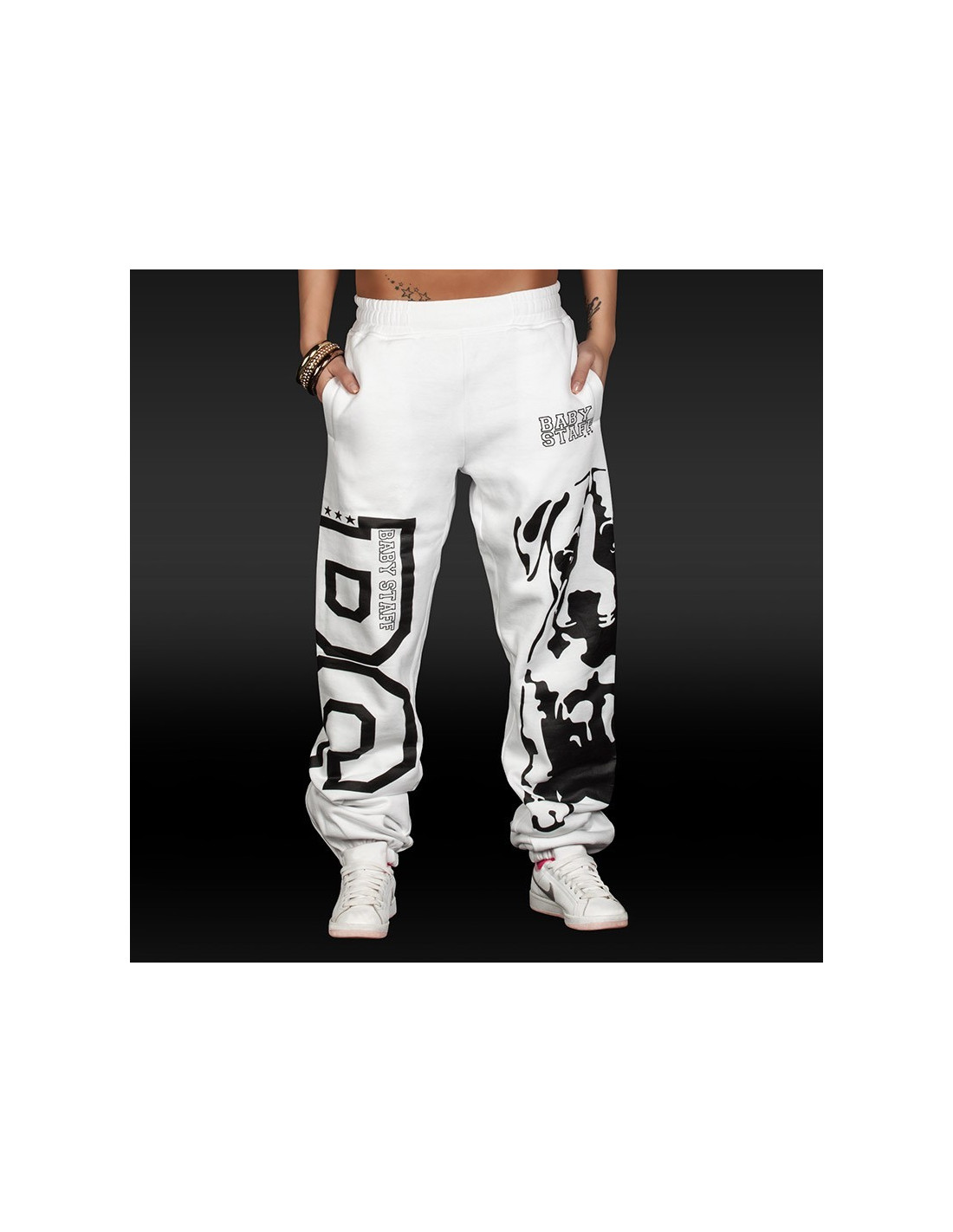 Amstaff Puppy Sweatpants BabyStaff White