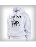 Amstaff Logo Hoodie White