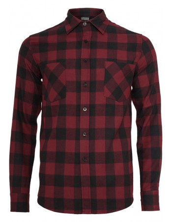 Ckecked Flanell Shirt Black/Burgundy