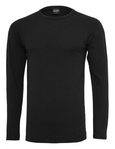 Fitted Stretch L/S Tee Black