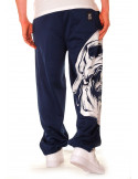 BSAT Big Skull Sweatpants Blue