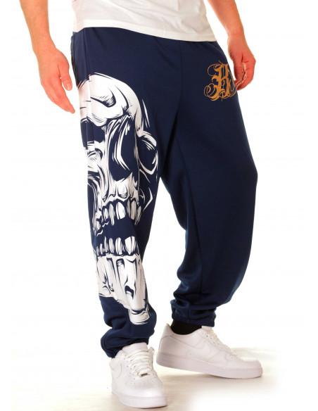 BSAT Big Skull Sweatpants Blue