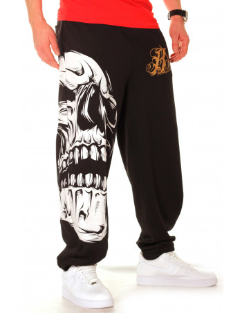BSAT Big Skull Sweatpants Black