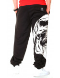 BSAT Big Skull Sweatpants Black
