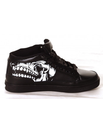 BSAT Big Skull Black Sneaker
