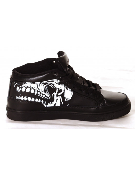 BSAT Big Skull Black Sneaker