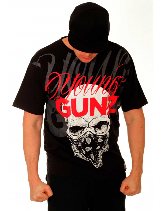 BSAT Young Gunz Tee Black/White/Grey/RED