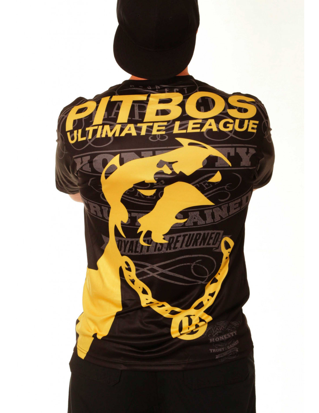Pitbos Ultimate League Tee/ Black Yellow Baggy