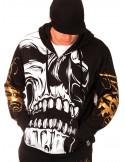 BSAT Big Skull ZipHoodie Black