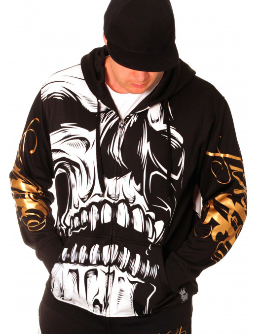 BSAT Big Skull ZipHoodie Black