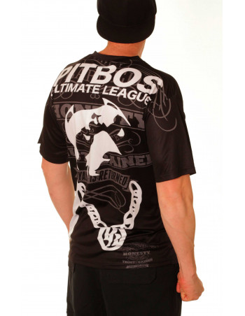 Pitbos Ultimate League Tee/ Black White