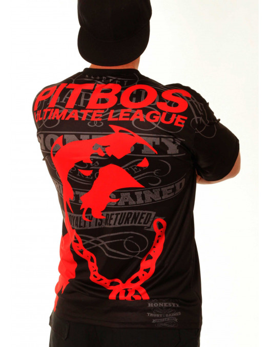 Pitbos Ultimate League Tee/ Black Red Baggy