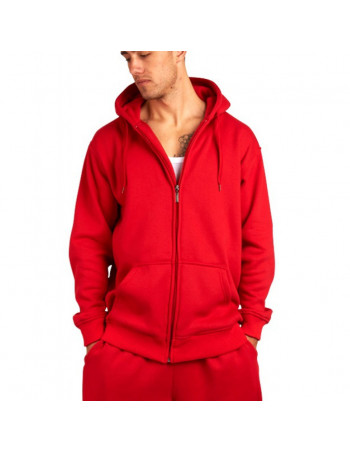 Townz Zip Red Plain Hoody