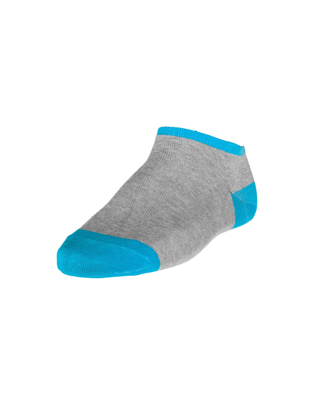 Contrast Sneaker Socks Grey Turquis