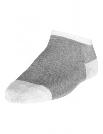 Contrast Sneaker Socks Grey White