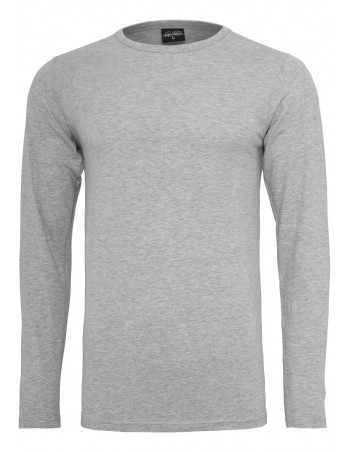 Fitted Stretch L/S Tee Grey