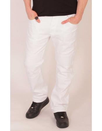 Biker Twill Pants White