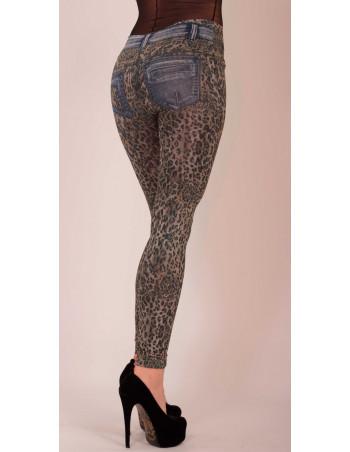 Jeans Leopard Leggings