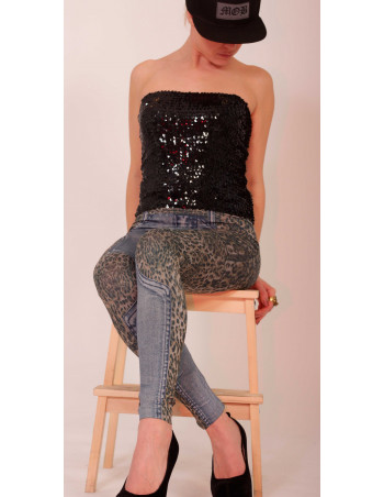 Sequin Top Black