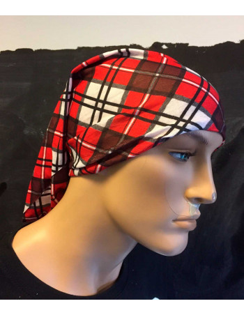 Multi Scarf TubeBandana Checked Red