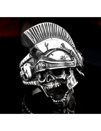Fighter Skull Ring