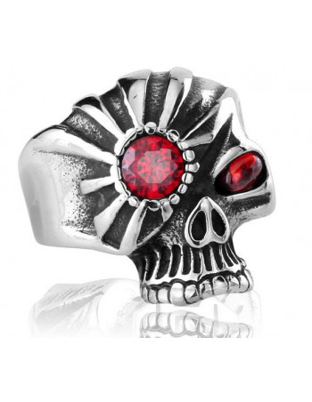 Eye Punk Skull Ring