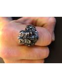 Cubic Zirconia Skull Ring