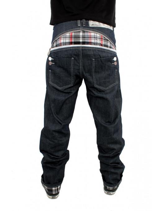 Zip Arc White Check Raw Denim Jeans