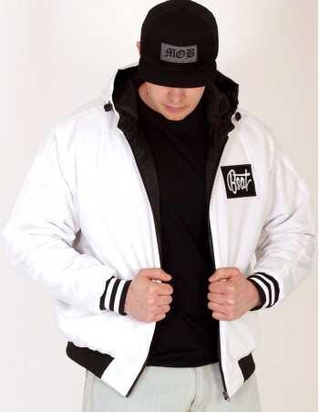 BSAT Bronx White/Black Jacket