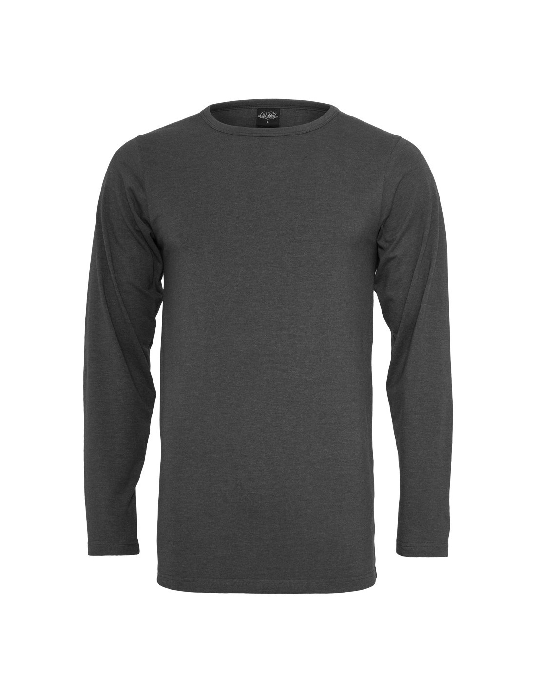 Fitted Stretch L/S Tee Charcoal