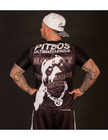 Pitbos Ultimate League Tee BlackNWhite CustomFit