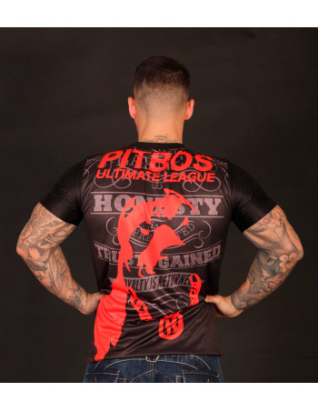 Pitbos Ultimate League Tee BlackNRed